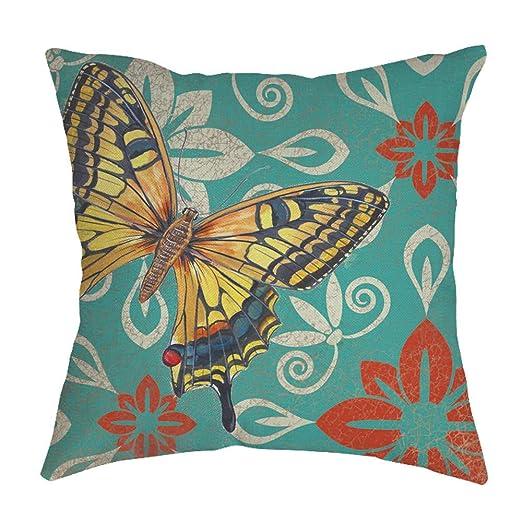 Watopi - Funda de cojín Vintage con diseño de Mariposas ...