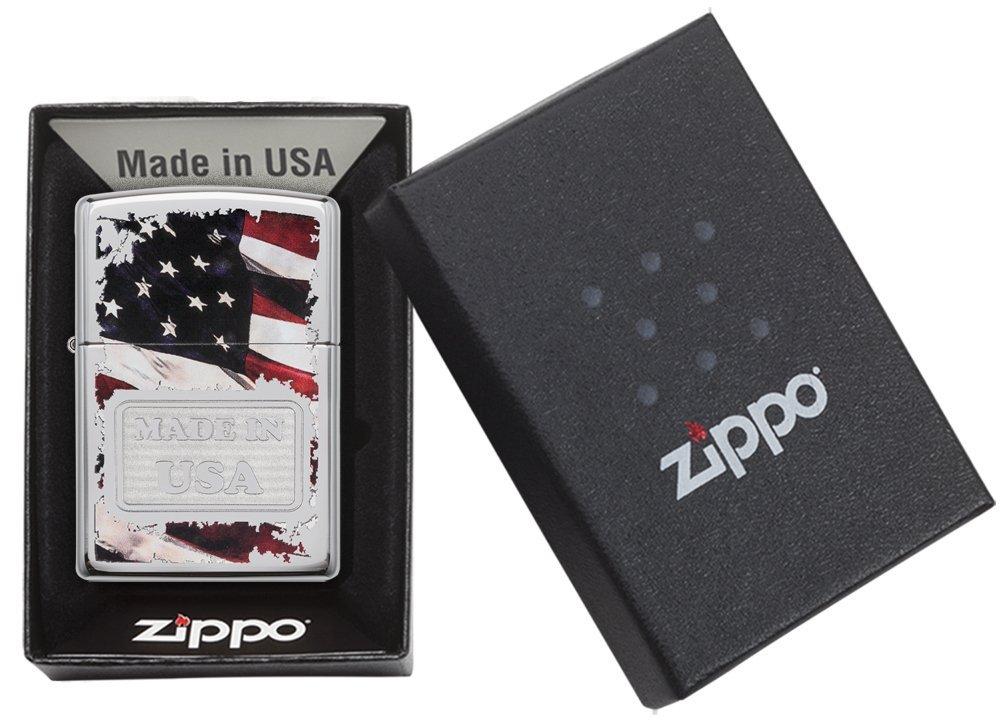 Zippo Made in USA High Polish Chrome Pocket Lighter by Zippo (Image #6)