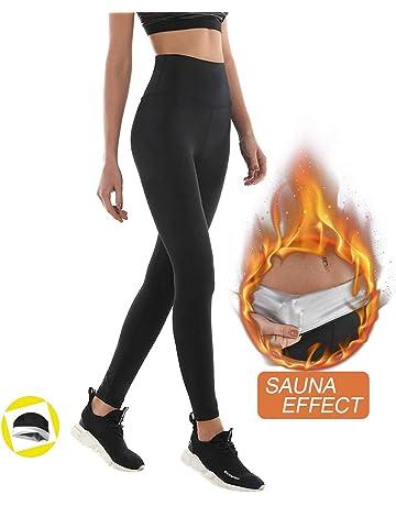 39a7a8c272 NHEIMA Pantalon de Sudation, Legging de Sport Femme Fitness à Taille Haute  - Legging Anti