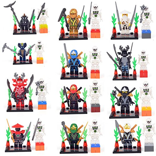 [NINJAGO NINJA COLE ZANE Kai Wu Lloyd MEZMO 24 Minifigures Building Bricks lEGO] (Punisher Costumes For Sale)