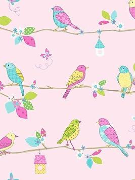 Fine Decor Papier Peint Hoopla Foret Arbres Oiseaux Papillons