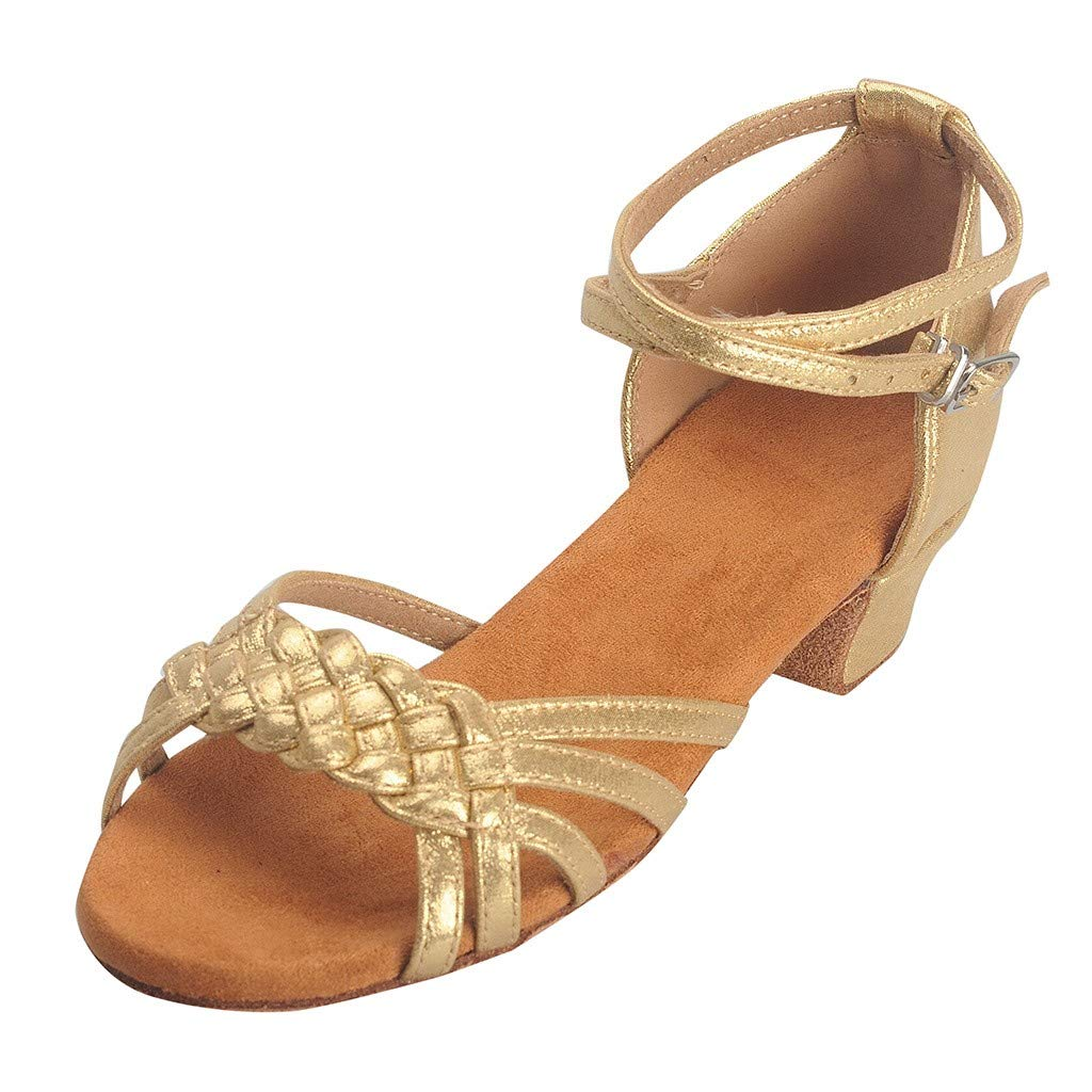 Garish  Women's Shoes Spike Heels Fashion Rumba Waltz Prom Ballroom Latin Salsa Dance Shoes Square Gold
