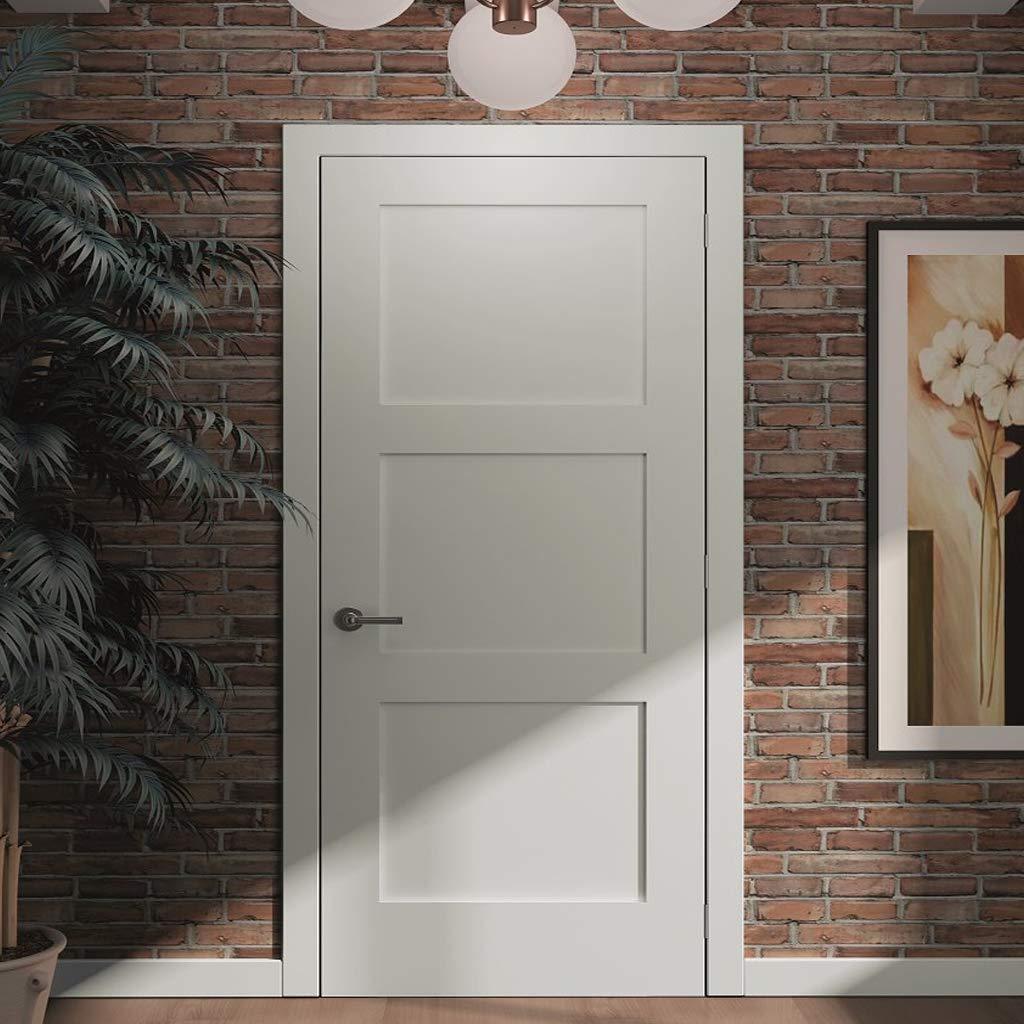 3-Panel Door Kimberly Bay Interior Slab Shaker White 24x80