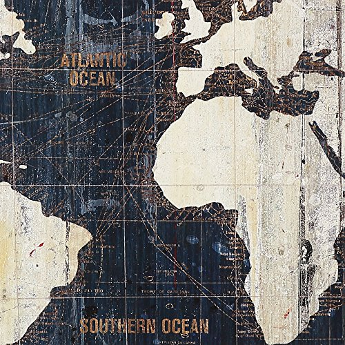 Amazon masterpieces old world map blue by avery tillmon amazon masterpieces old world map blue by avery tillmon graphic art on wrapped canvas set 3 piece posters prints gumiabroncs Image collections