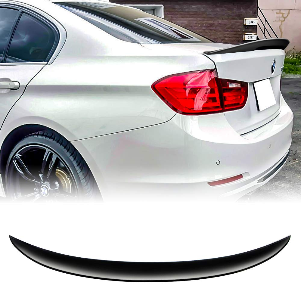 Black F30 3er ABS Rear Trunk Spoiler M3 Performance Wing, 13-18 FinBot