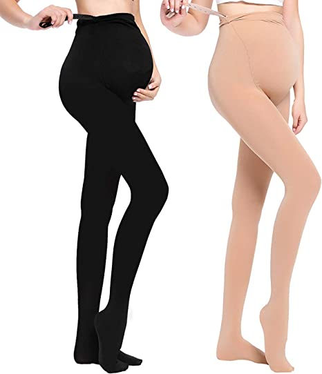 Women/¡/¯s Pregnant Maternity Pantyhose Opaque Tights 320D LOVELYBOBO 2 Pack Maternity Tights Opaque Legging ADJUSTABLE Waist Band One Size