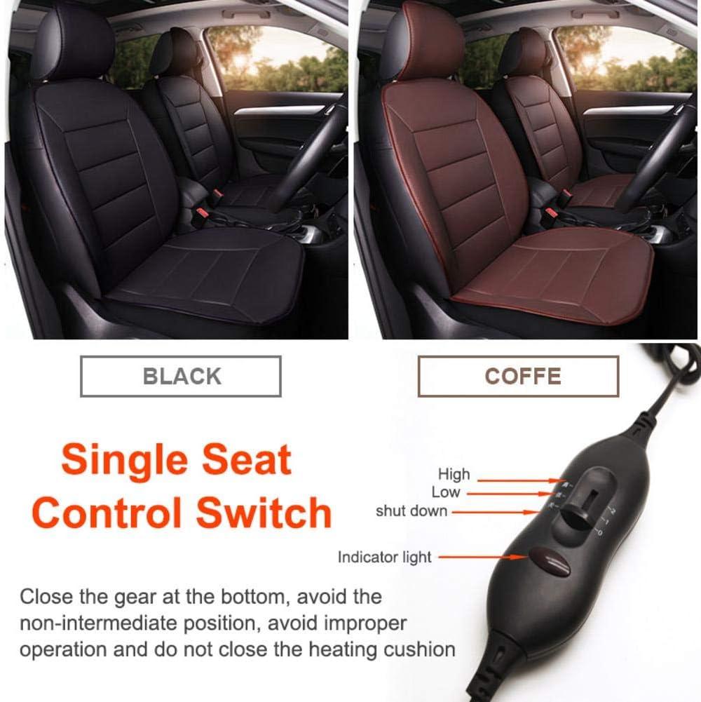 EUGAD Coprisedile Riscaldato Massaggiante 12V Termico Sedile Anteriore Riscaldatore Auto Universale con Regolatore Temperatura 49x97,5cm Nero 0001JRD