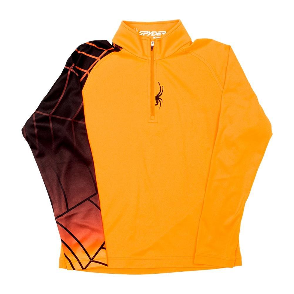 Spyder Boys Linear Web Dry W.E.B.T-Neck Tee, Small, Bryte Orange/Black