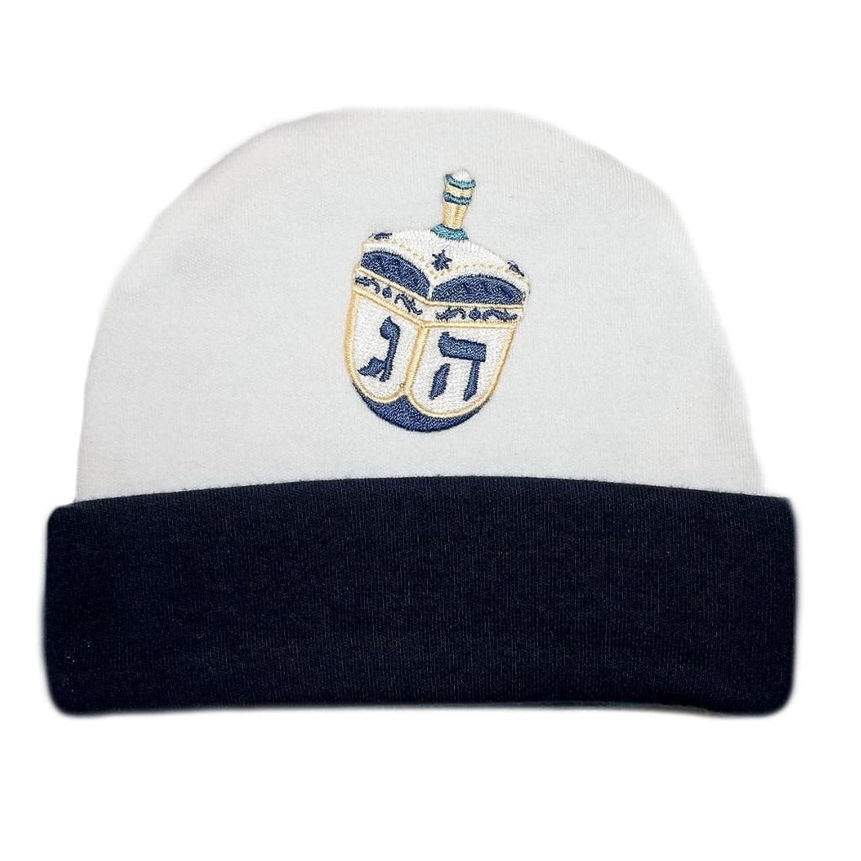 nice Jacqui's Baby Boys' Navy Blue Dreidel Hanukkah Hat hot sale