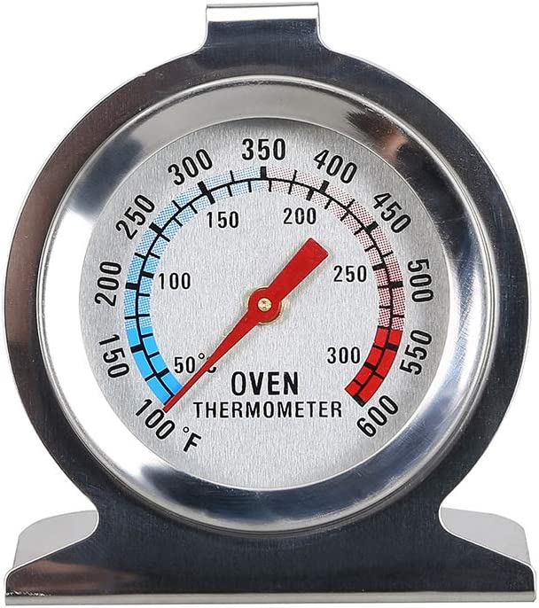 Oven Thermometer,Kitchen Dial Oven Thermometer,Stainless Steel Oven Grill Smoker Thermometer Monitoring Temperature Gauge,Oven Dial Thermometer for Home Kitchen 3 Pieces