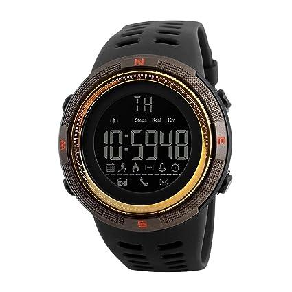 Hemobllo Reloj Deportivo Elegante para Hombre Casual Calibrador podómetro Relojes Digitales Reloj Bluetooth Impermeable para Hombre