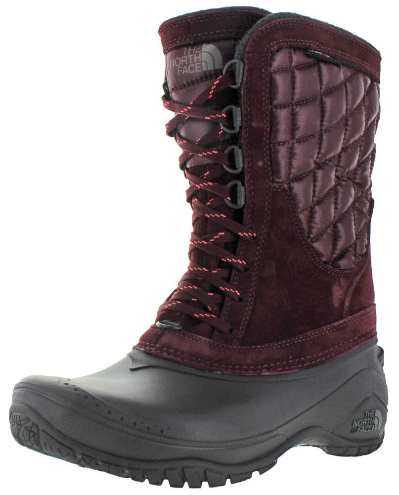 The North Face Womens Thermoball Utility Mid B0195K6FYA 8 B(M) US|Deep Garnet Red/Calypso Coral