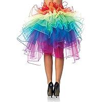 Gonna Tutu donna Vintage tutu danza Abito Ballerina Ballo Balletto Organza Pizzo Layered arcobaleno Gonna Irregolare Asimmetrica Vestito Principessa per Halloween Carnevale Natale Cosplay – Landove