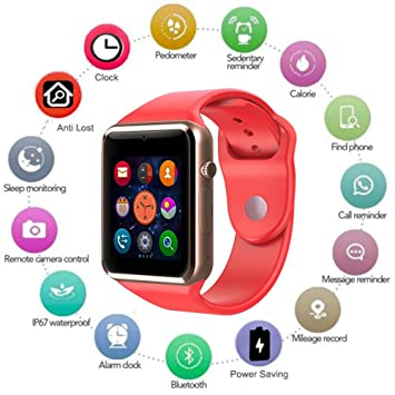 Amazon.com: BLUETOOTH SMART WATCH, Touchscreen with Camera ...