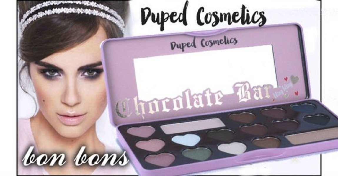 "Chocolate Bar ""The Bonbons"" 14 Eyeshadows Palette by Duped Cosmetics"