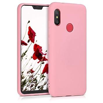 kwmobile Funda para Xiaomi Redmi 6 Pro/Mi A2 Lite - Carcasa para móvil en [TPU Silicona] - Protector [Trasero] en [Rosa Claro Mate]