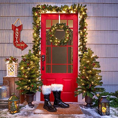Outdoor Lighted Christmas Tree Set - 6