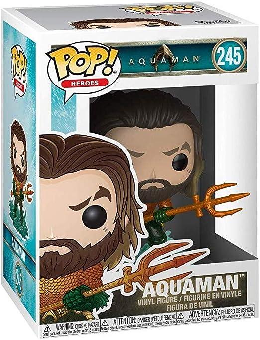 Multicolor Funko 31177 Pop Heroes Arthur Curry in Hero Suit Collectible Figure Aquaman