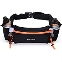 LotFancy Running Fuel Belt with Water Bottle (BPA Free) - Hydration Belt for Women and Men - Runners Waist Pack for Marathon, Race, Fits iPhone 6 Plus, 7, 7 Plus and Other Smart Phones