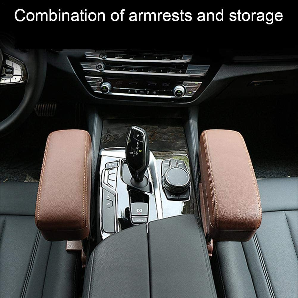 Niumen Car Seat Armrest Box Car Center Console Cover Waterproof Durable Easy To Install Auto Center Console Pad Cover Protector For Most Vehicle SUV Truck Car
