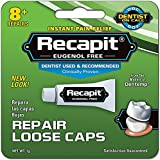 Recapit Loose Cap Dental Repair, 8 Repairs Per Tube (4 Pack)