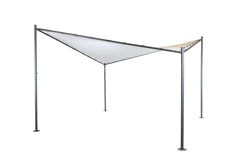 Pérgola (Glorieta) Mariposa | Color Arenoso | 400 x 400 cm | Cuadrada | SORARA | Poliéster 300 g/m2 (UV +50) | 48 Kg | Exterior - Patio - Cobertizo - Toldo ...