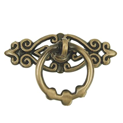 WINOMO 10pcs Cabinet Drawer Ring Pull Handle Cupboard Door Knob (Antique  Brass) - WINOMO 10pcs Cabinet Drawer Ring Pull Handle Cupboard Door Knob