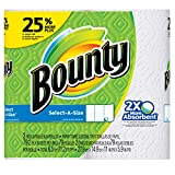 Bounty Select-A-Size Paper Towels, White, 2 Large Rolls = 25% More Sheets - Packaging may vary