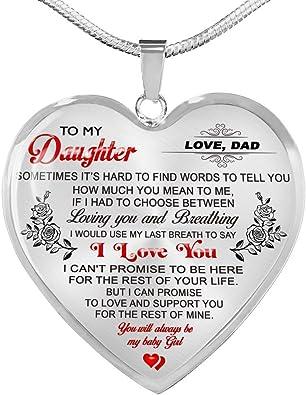 Estuche de regalo para los padres de plata mamá Papá 2 corazón collares i love you the Moon