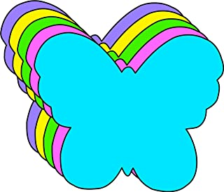 """product image for 3"""" Butterfly Assorted Color Creative Cut-Outs, 31 Cut-Outs in a Pack for Spring, Summer Classroom Garden Kids' School Craft Projects"""