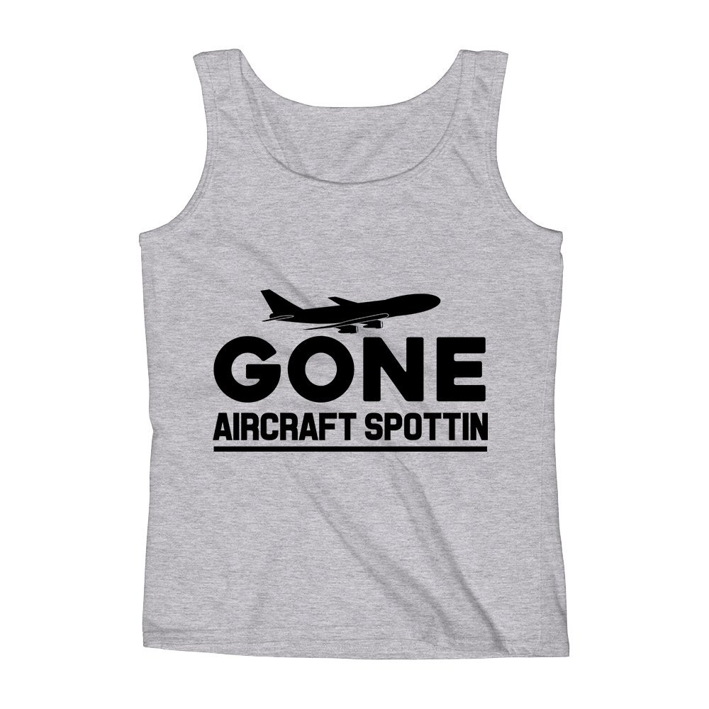 Mad Over Shirts Gone Aircraft Spotting Unisex Premium Tank Top
