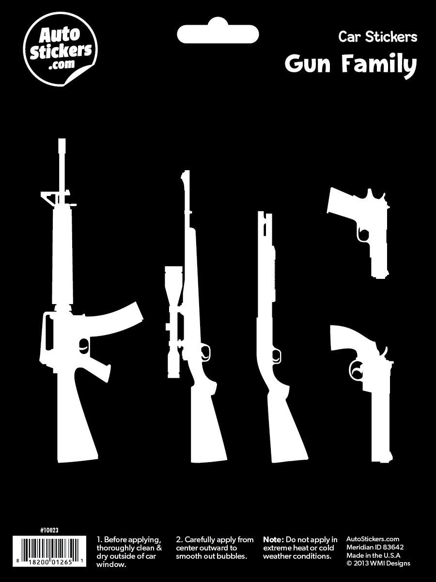 Amazon com wmi designs 10023 gun family stickers automotive