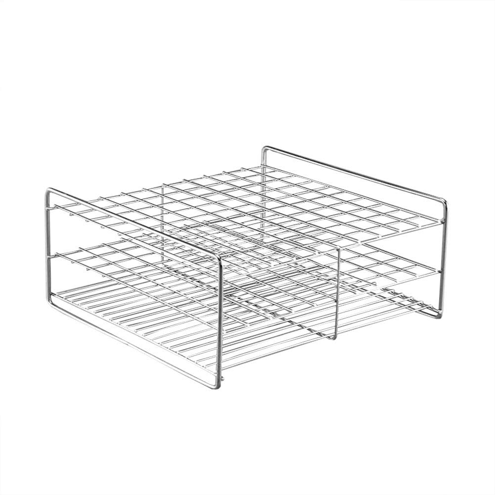 Stainless Steel Test Tube Rack, 100 Holes, Wire Constructed,Outer Diameter Permitted of Tubes 15.5-17.5mm or Less, 10x10 Format,Adamas-Beta by Adamas-Beta