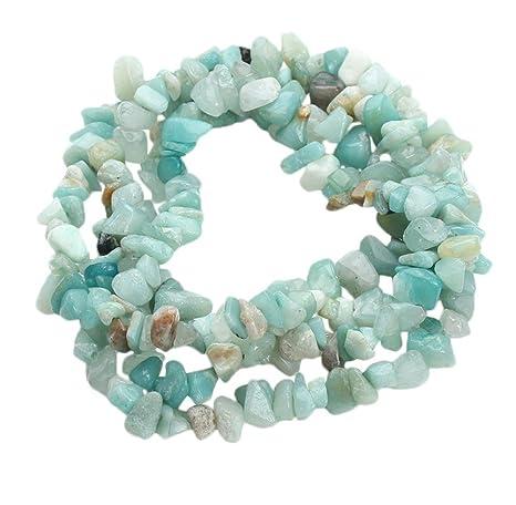 8eb0525b74be Chytaii Cadena de Piedras Natural Irregular Precioso Accesorio para Collar  Pulsera Artesanal Cuentas Perforadas