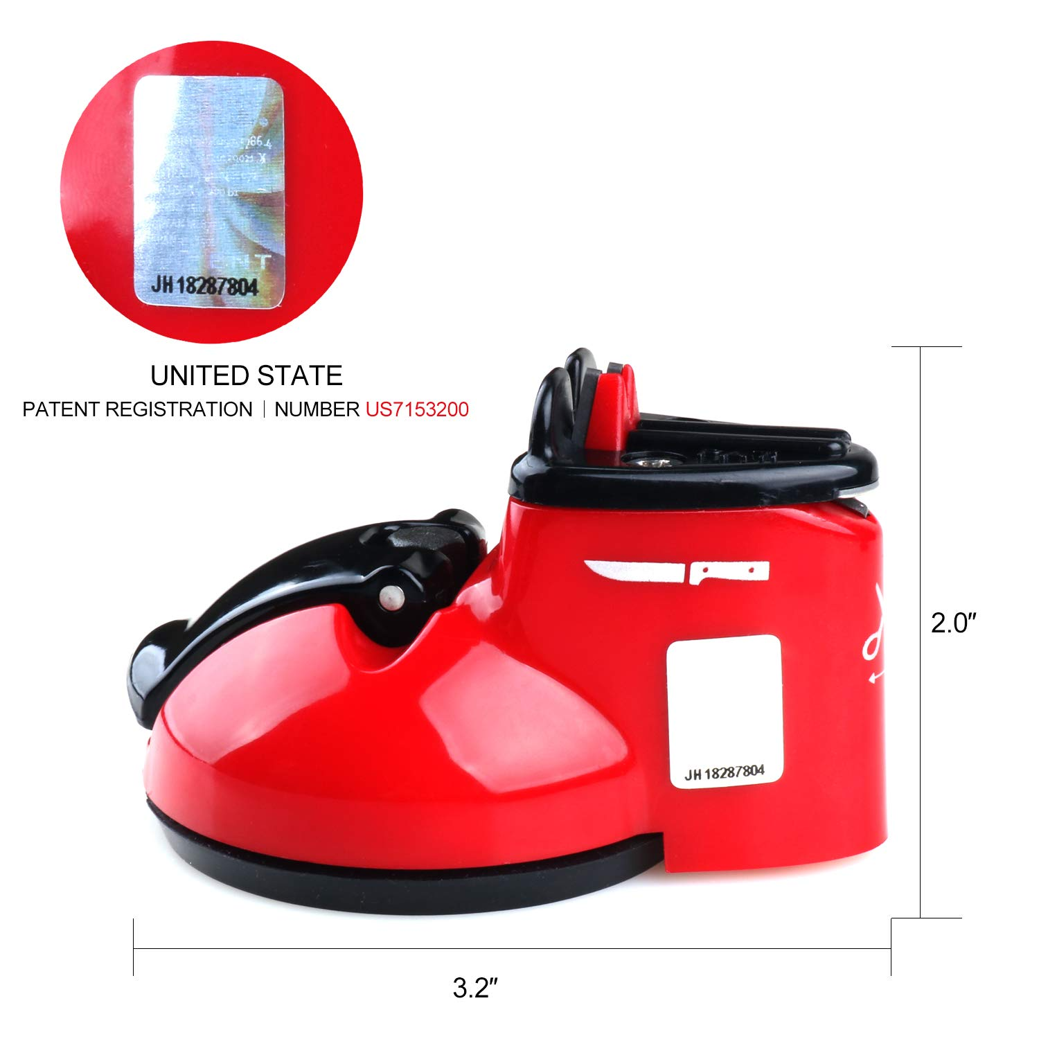 Kitchen Knife Sharpener Scissor Sharpener 2-Stage Knife & Scissor Sharpening Tool Helps Repair Camping & Hiking Precision Perfect,Calibration Easy Safe KitchenRight by KitchenRight (Image #4)