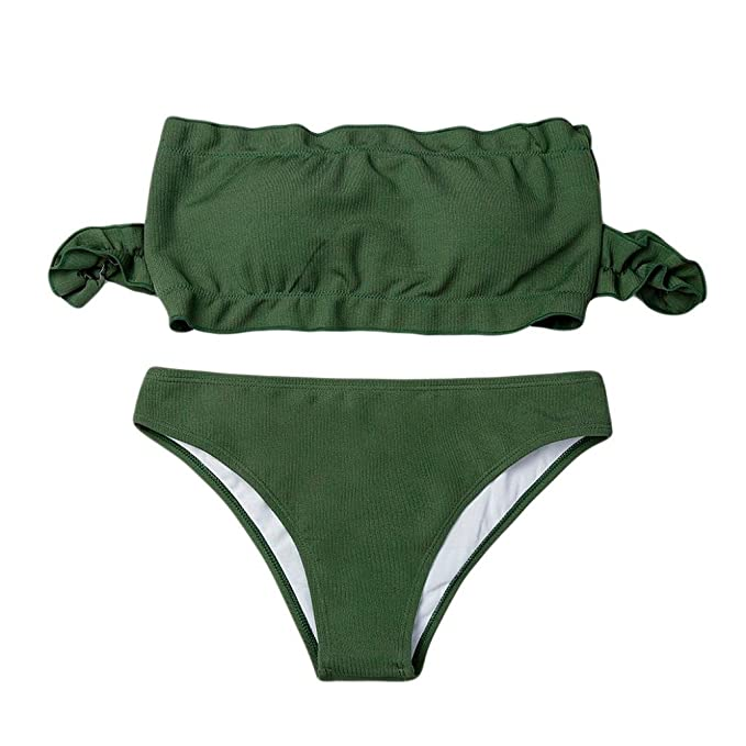 pretty nice 2ec81 41b9a Badeanzug Ohne Träger, Manadlian Frauen Bikini Set Damen ...