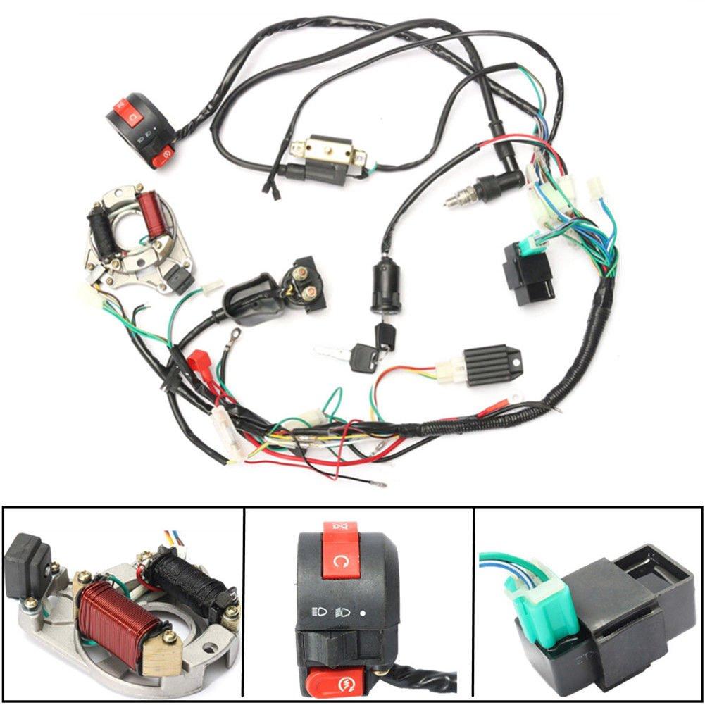 Amazon.com: FidgetFidget WIRING CDI WIRE HARNESS STATOR ASSEMBLY FOR ATV  ELECTRIC QUAD 70 90 110 125CC: Automotive