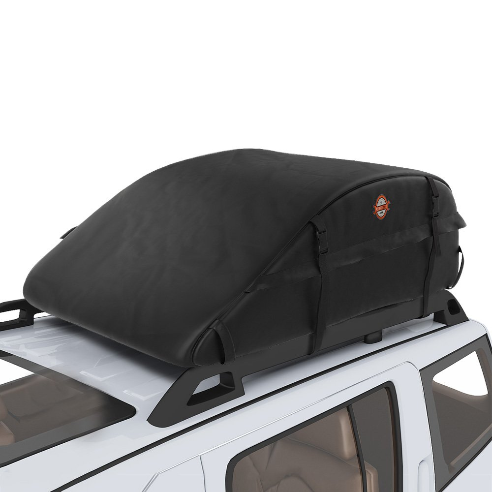 Sailnovo 15 Cubic Feet Car Roof Top Carrier, Water Resistant Car & Van Soft Rooftop Travel Cargo Bag Box Storage Luggage