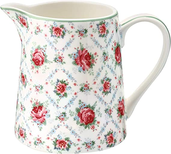 Greengate Fiona pale pink Jug 0,5L Krug Kanne kleines Schwedenhaus Vase