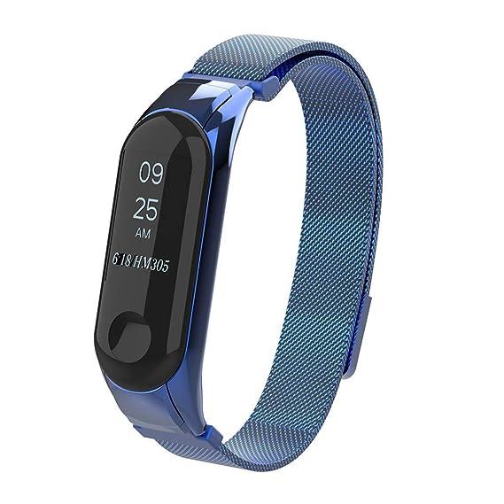 ❀para el Reloj Xiaomi Mi Band 3, Pulsera de Metal con Correa magnética milanesa milanesa Absolute: Amazon.es: Ropa y accesorios