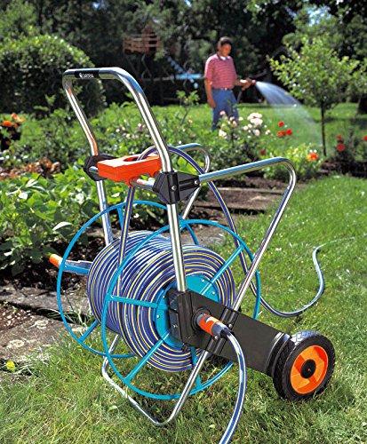 Gardena 2674 262-Foot Wheeled Metal Garden Hose Reel With Hose Guide