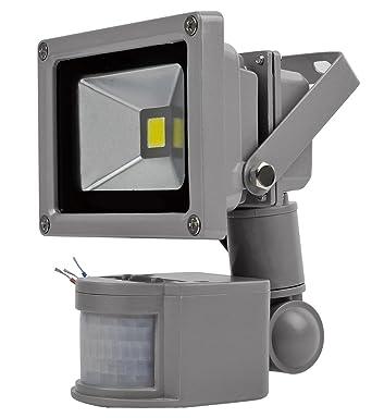 10W Foco LED con Sensor Movimiento, Proyector LED Exterior de ...