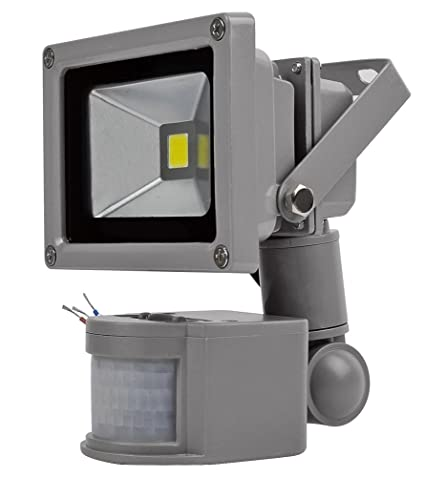 Leetop 10W Proyector de luz LED,Foco + Detector de Movimiento,Luz Blanca,