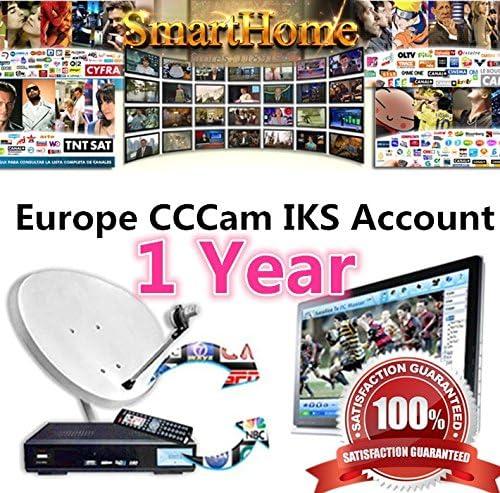 ARBUYSHOP 12 Meses Europea CCCAM Cline servidor de cuentas de Año para Sky España Reino Unido Alemania Francia Italia Polonia 1 año con shiping libre de DHL: Amazon.es: Electrónica