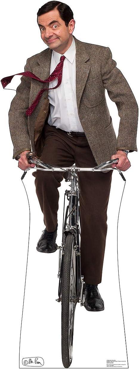 Amazon Com Cardboard People Mr Bean Bike Ride Life Size Cardboard Cutout Standup Home Kitchen