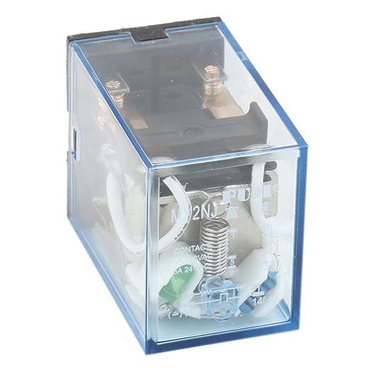 heschen Gereral prop/ósito alimentaci/ón del rel/é HH54P-L 24/VDC bobina 3/A 220/VAC//24VDC 4PDT 14/pines terminales indicador LED
