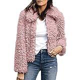 71ffa0121edd TianWlio Damen Mäntel Frauen Warme Kunstwolle Mantel Revers Jacke Winter  Parka Oberbekleidung