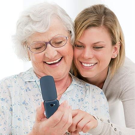 Teléfono móvil para Personas Mayores con Tapa 2,4 Pulgadas Flip ...