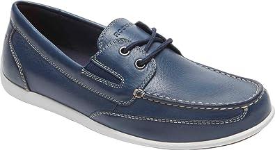 Rockport Men's Bennett Lane 4 Boat Shoe New Dress Blues Leather 11 ...