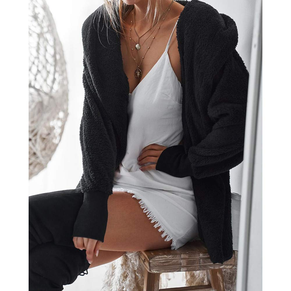♔ Malbaba 2019 Winter Coat, Womens Ladies Hooded Fluffy Coat Jacket Cardigan Overcoat Outwear Jumper: Amazon.com: Grocery & Gourmet Food